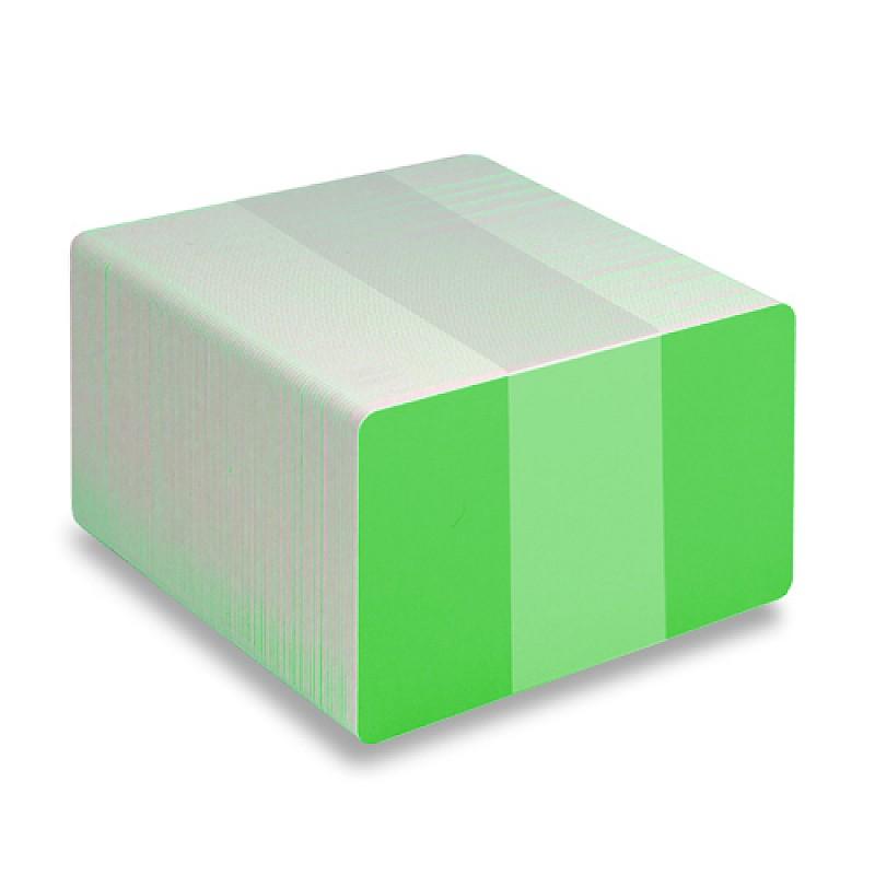 Green PVC cards - Fluoresent