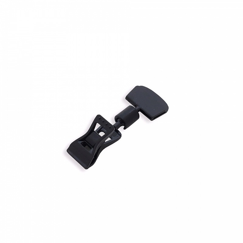 Clip-on price tag holder with narrow label