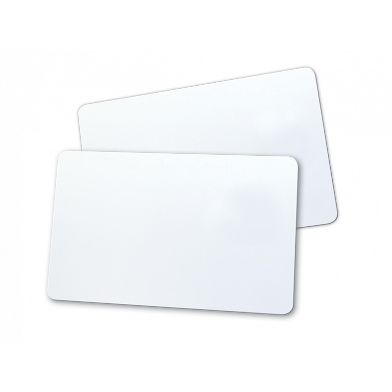 Rewritable cards with PVC back
