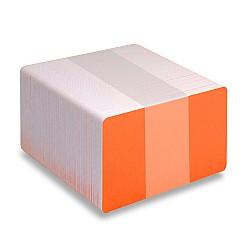Orange PVC cards - Fluoresent