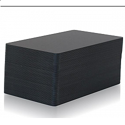 Black PVC cards thin, matte