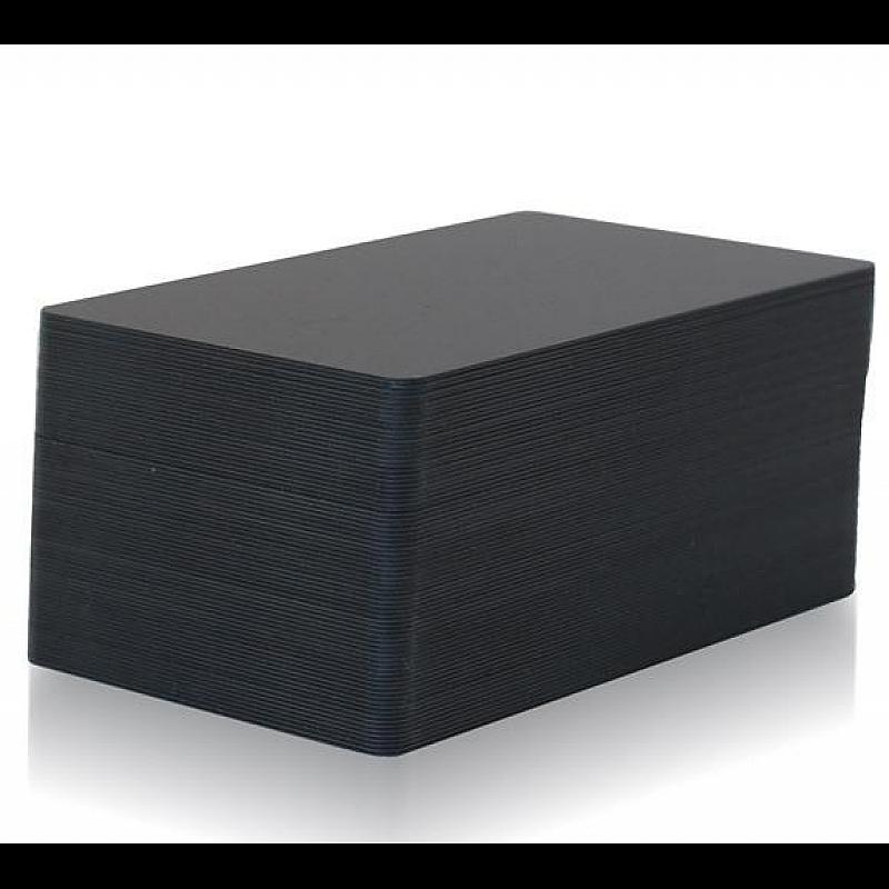 Black PVC cards thin, matte