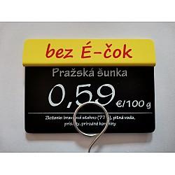 Tags labeled BEZ É-ČOK